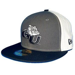 Gonzaga Bulldogs Charcoal Black White Fitted Hat
